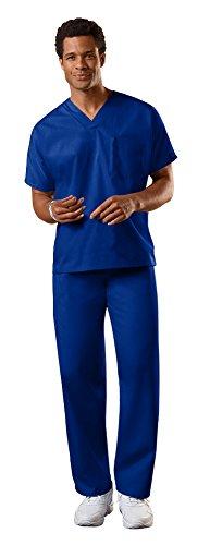 Cherokee Uniforms Authentic Workwear Unisex Scrub Set (Galaxy Blue - Medium / Medium Short)