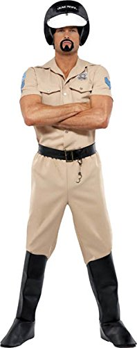 Motorcycle Cop Costumes (Smiffy's Village People Motorcycle Cop Costume, Shirt, Trousers, Boot Covers,)