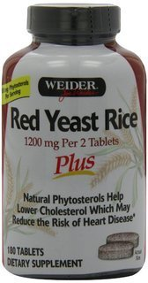 Weider Red Yeast Rice Plus with Phytosterols 1200 mg per 2 Tablets – 360 Tablets.