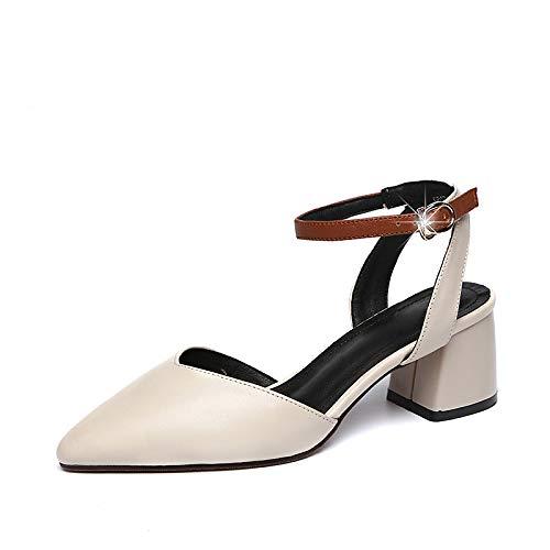 Yukun Schuhe mit hohen Absätzen Hohle Weibliche Weibliche Weibliche Pu-Hohe Ferse-Starke Ferse-Schuhe Spitzten Flache Mund-Wilde Berufsfrauen-Schuhe 9d3624
