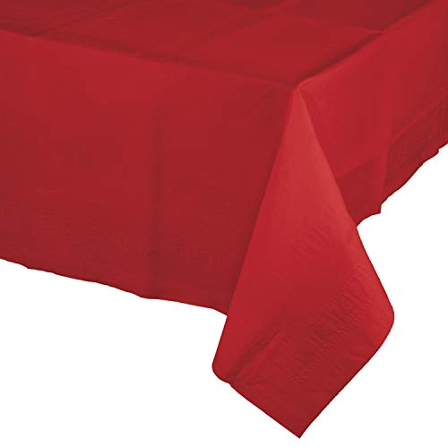 Classic Red Paper Tablecloths, 3 ct -