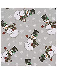 Winter Wonder Lane Christmas Tablecloth, PEVA Vinyl Flannel Backed, Holiday Snowman Print (52 x 70 Rectangle) (Vinyl Tablecloth Snowman)