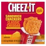 Cheez-It Cracker Sandwiches 8.9-oz Packages (Pack of 4) (Classic Cheddar) by Sunshine