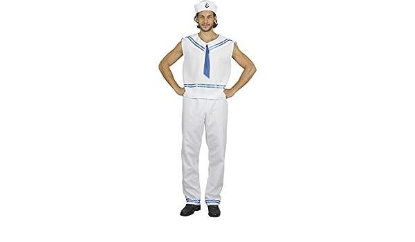 DISONIL Disfraz Marinero Hombre Talla M: Amazon.es: Juguetes y juegos