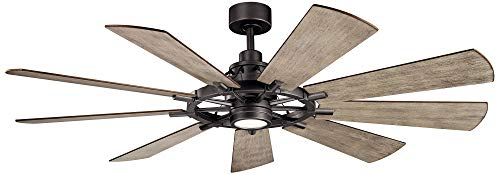 - Kichler Gentry 65 inch Indoor Ceiling Fan in Anvil Iron