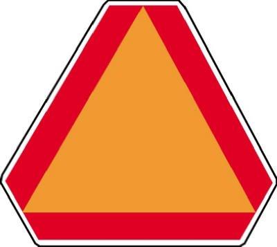 (Hy-Ko TD-2 Vinyl Slow Moving Vehicle Emblem Decal)