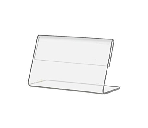 Marketing Holders Slant Back Table Tent Price Tag Name Plate Deli Tag Signage Holder 3.5'' w x 2'' h Lot of 12 by Marketing Holders