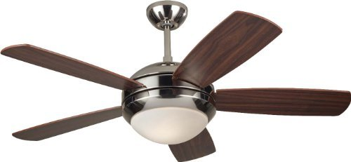 Polished Nickel Discus - Monte Carlo 5DI44PND, Discus II, 44 Ceiling Fan, Polished Nickel by Monte Carlo