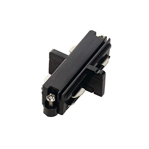 SLV 1-fasesysteem langverbinder voor 1-fase hoogvoltage-stroomrail / zwart