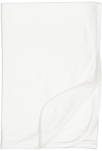 Rabbit Skins Infant 100% Cotton Premium Jersey Blanket (White, One Size Fits -