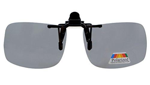 Eyekepper Rectangular Flip up Polarized Clip-on Sunglasses ()