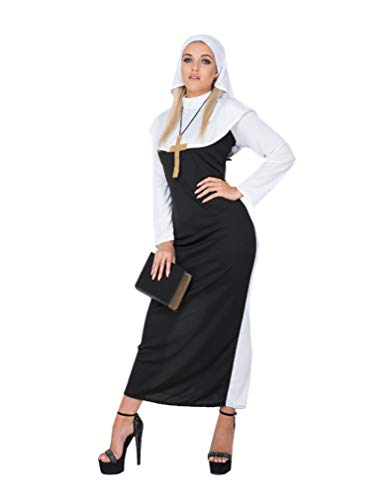 Sexy Nun Costume - Halloween Classic Church Sister Dress Accessories, Large ()