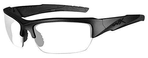 Wiley X WX Valor Glasses Smoke Grey Clear Lens Matte Black - X Glasses
