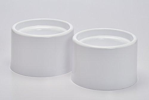 Buddeez 02702-WHT-ONL Metal Free Pet Dish Pet Bowl, White