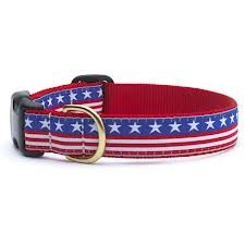 Up Country Stars and Stripes Dog Collar - Medium