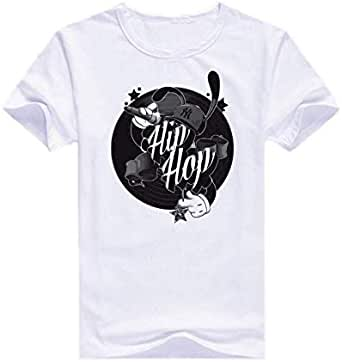 Round Neck Hip Hop Singer T-Shirt For Men