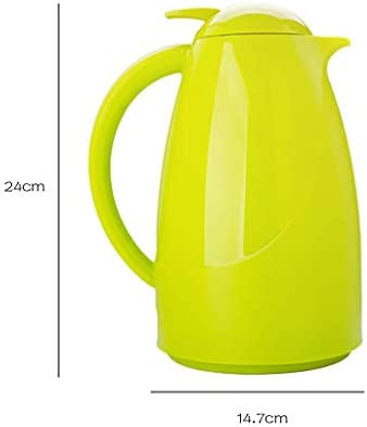 NIHAOA Umweltfreundliche Wasserkocher Europäische Insulated Pot Doppelglas Liner Heim Kettle Hotel Restaurant Kitchen Kettle 24-Stunden-Isolierung Kessel 1,0 L (Farbe:. Grün)