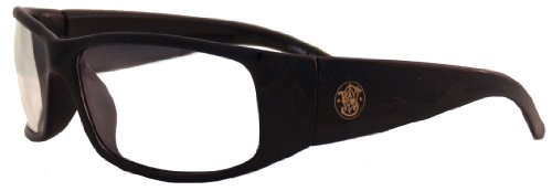 d7abef81753 Details about SMITH   WESSON Elite 21302 Black Safety Glasses Clear  Anti-Fog Lens 3016312