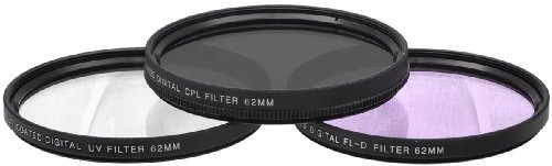 Price comparison product image Xit XT62FLK 62mm 3-Piece Multicoated HD Digital Lens Filter Set