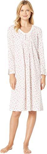 Carole Hochman Women's Sleeve Long Nightgown, red Ditsy Floral, S Carole Hochman Cotton Nightgown