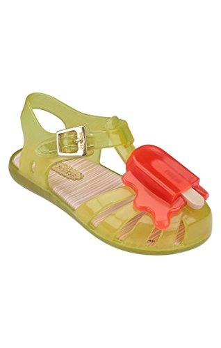 melissa Mini Aranha VIII BB Size 8 Girls Sandal Yellow/Orange