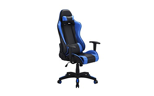 31ZWrJRN05L - Computer Gaming Chair, Office High Back PU Leather Swivel Computer Chair With Lumbar Support and Headrest