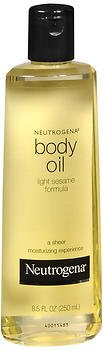 Neutrogena Body Oil Light Sesame Formula, Original 8.5 oz (Pack of (Neutrogena Original Formula)