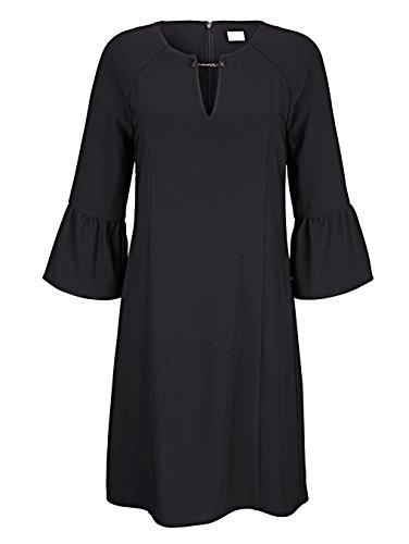 Fließend Kleid Damen by mit Moda Alba Schwarz Trompetenärmel qxFBvXEEw