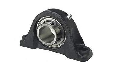 Timken YAK 3/4 YAK Series bloque de cojinete de bolas de hierro fundido con 2 pernos, sellos de contacto, bloqueo de tornillo de ajuste, tipo no expansión, diámetro de orificio de 19,05 mm