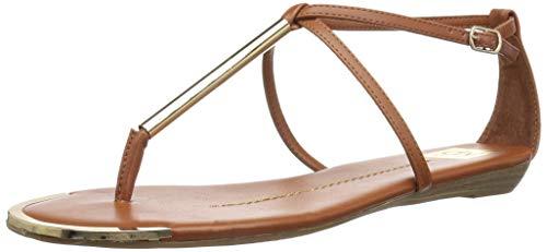 DV by Dolce Vita Women's Archer Flat Sandal, Cognac Stella, 8.5 M US