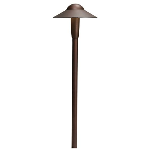 Kichler 15870AZT Design Pro LED Dome 4W 12V Path and Spread Landscape Light, Textured Architectural Bronze Finish