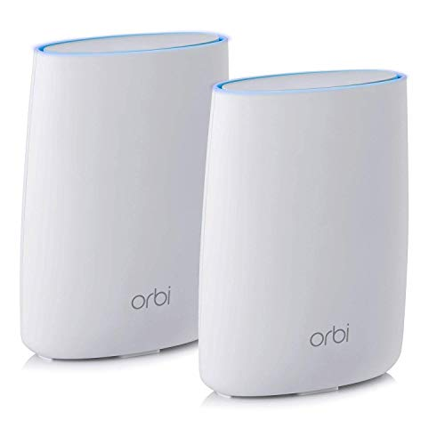 NETGEAR Orbi Ultra-Performance Whole Home Mesh WiFi System - WiFi router and single satellite extender with speeds up to 3Gbps over 5,000 sq. feet, AC3000 (RBK50) (Best Secure Wifi Router)