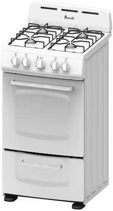 "Price comparison product image Avanti GR020POW 20"" Freestanding Gas Range Cooktop, White"