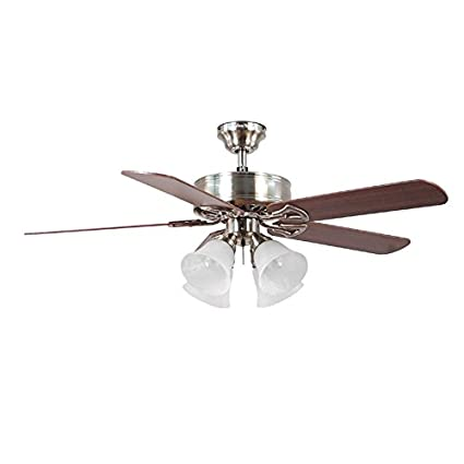 harbor breeze springfield ii 52 in brushed nickel downrod or close rh amazon com Harbor Breeze Fan Company Harbor Breeze Ceiling Fan Styles