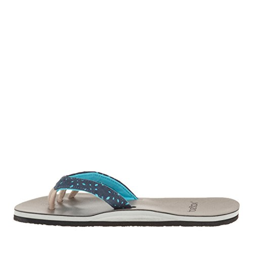 Yoga Diva Women's Toe Leather and Five Surf Tanzanite Beach Sandal ToeSox Comfort Casual flip Flop Vegan Recovery for 8415qR1xw