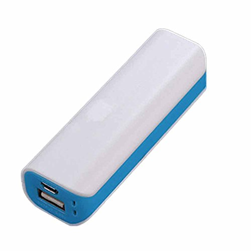 Choosebuy Double Color 1200mAh USB Output Portable Charger External Battery Backup Power Bank for Cellphones,Electronic Devices and More (Blue)