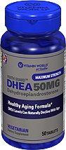 Vitamine mondiale de la Jeunesse de la Garde DHEA 50 mg de déhydroépiandrostérone (50 comprimés)