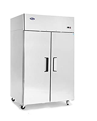 New Stainless Steel 52-Inch Two Door Upright Commercial Refrigerator for Restaurant