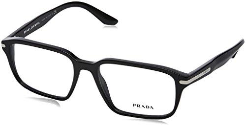 Prada PR09TV Eyeglass Frames 1AB1O1-55 - Black - Glasses Prada Frames