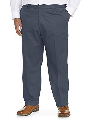 - Amazon Essentials Men's Big & Tall Loose-fit Wrinkle-Resistant Flat-Front Chino Pant fit by DXL, Navy, 50W x 28L
