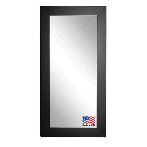 American Made Rayne Black Satin Wide 30.5 x 65.5 Floor Mirror