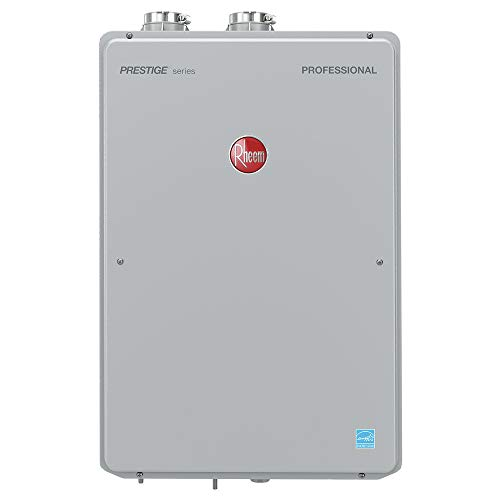 (RHEEM RTGH-84DVLN-2 Natural Gas Condensing Tankless Water Heater, Silver)