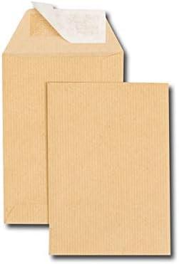 Caja de 500 sobres Kraft marrón C6 114 x 162 90 g/m2 banda de ...