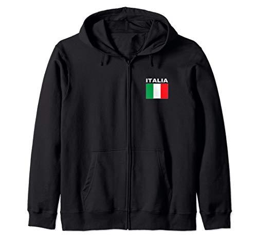 Flag Italia Cool Italian Forza Azzurri Italy Flags Men Women Zip Hoodie