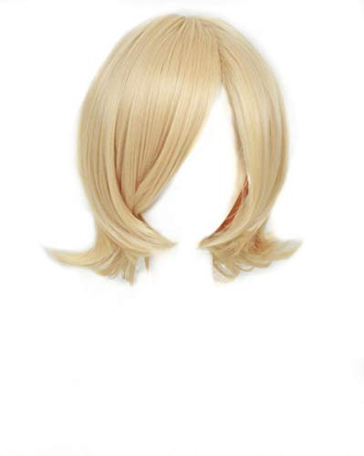 FWHWJ Kagamine Rin Cosplay Wigs Short Blonde Golden Halloween Party -