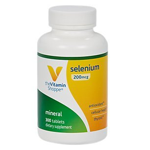 Selenium 200mcg Mineral Supplement to Support Cellular Heart Health, Once Daily Antioxidant, Gluten Free Defends Against Free Radicals (300 Tablets) by The Vitamin Shoppe