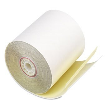 - Paper Rolls, Two-Ply Receipt Rolls, 3 x 90 ft, White/Canary , 50/Carton by Accufax (Paper Mfr) (Catalog Category: Paper, Envelopes & Mailers / Paper Rolls, Office Machine) by Accufax