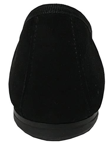 cm Italy 1 Cuir in Noir Talon 100 UPPER Femme doublé Made Cuir Tissu Coton CLASS Ballerine MODÈLE Valeria 1tvPaqw