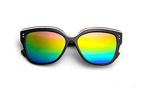 colorido tendencia retro de LSHGYJ GLSYJ gafas de black Moda Bright Cat's multicolored Wild de gafas gafas gafas sol sol Eye mercury sol señoras 8Ir8E0wqy