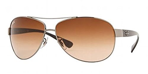 Ray-Ban RB 3386 Sunglasses Gunmetal / Brown Gradient 63mm & HDO Cleaning Carekit - Ray 3386 Ban
